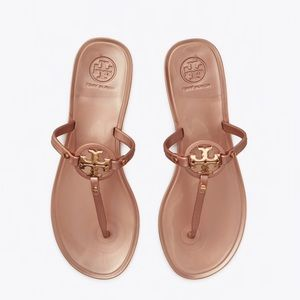 NEW 6 Tory Burch Mini Miller Jelly Rose Gold